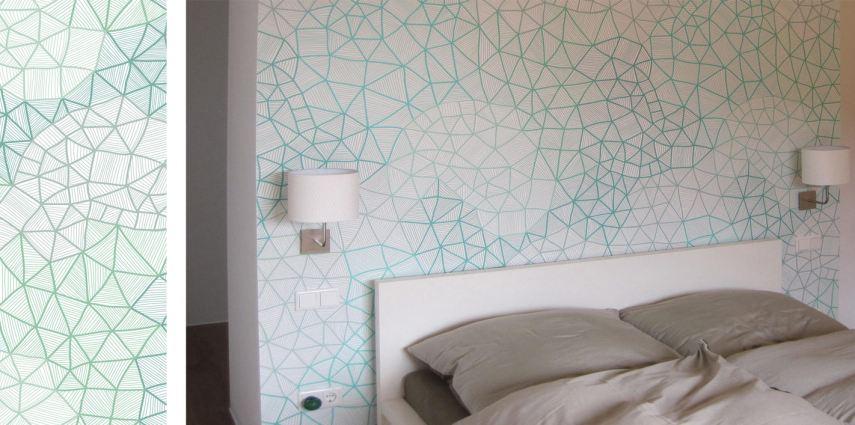 Wandtapeten Gestaltung mit Patterndesigns